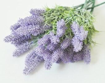 Artificial Lavender,Faux Lavender,Artificial Ferns,Dusty Lavender,Flower Arrangement,Pastel Purple