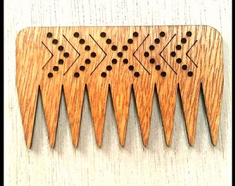 "Stitchable ""Chevron"" Wooden Weaving Com/ Beater DIY  *Cherry Finish*"