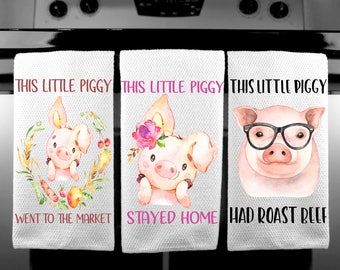Exceptionnel This Little Piggy/Towel Set/Watercolor Pigs/Pig Kitchen Towel/motheru0027s Day  Gift/housewarming Gift/bridal Shower Gift/Pig/pig Kitchen