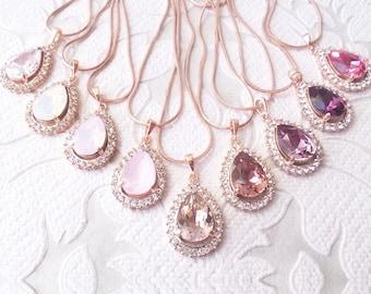 Rose gold necklace Etsy
