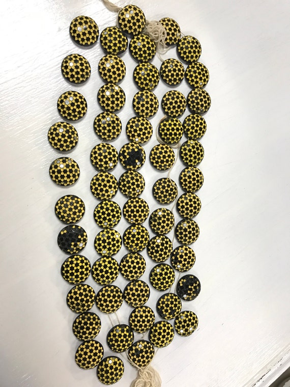 Czechoslavian glass buttons or beads for jewelry making