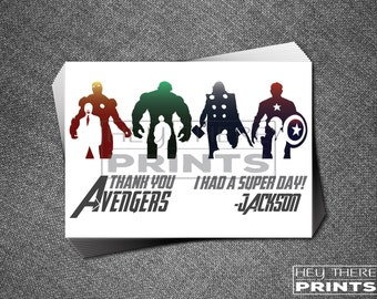 Captain America Birthday Thank You Cards The Avengers