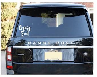 Car decals gypsy soul| laptop decal| hippy car sticker| Mac sticker| laptop sticker| decals for her| decals for women| Gypsy| Gypsy decal