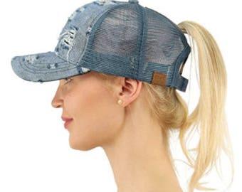 Custom Ponytail Cap, Ponytail Cap, Ponytail hat, Messy bun Cap, Messy bun Hat, Custom messy bun hat, Bun hat, Bun Cap, monogram hat