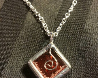 Glass Cube Necklace