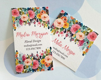 Business Cards, Custom Business Cards, Floral Business Cards
