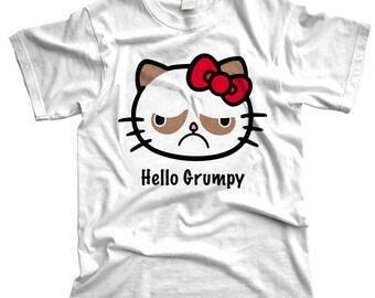 Hello Grumpy kitty tshirt