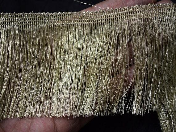 2 Yard Metallic Gold Fringe For Home Decor Dull Gold Fringe