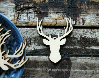 10 pcs . Deer Antler Tags . Rustic Wedding Favors . Unfinished Wood Tags . Country Wedding Decorations . Rustic Wedding Decor