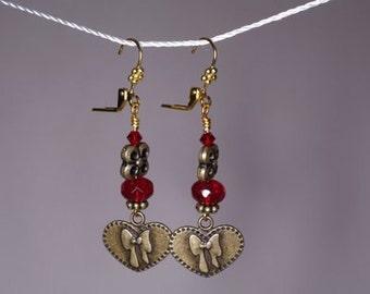Sweet Heart Valentine Dangle Earrings