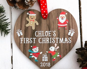 Baby first Christmas ornament 1st Christmas baby's first personalised baby Christmas baby ornament baby's first christmas babys first   12CD