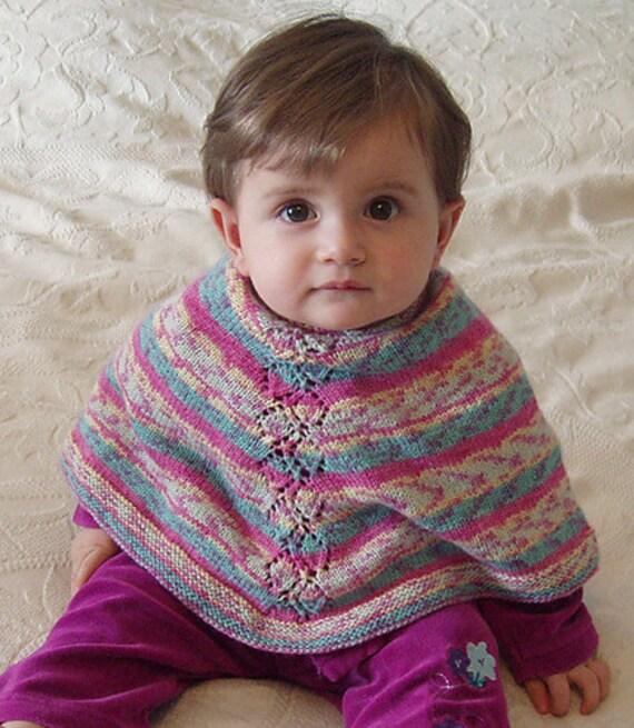 Baby Poncho Leafy Baby Knitting Pattern Pdf