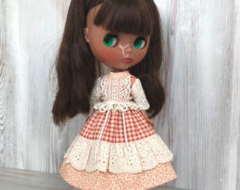 Blythe floral dress, doll clothes, fashion, doll outfit, 30 cm dolls clothes, 12 inch doll dress, Pullip dress, doll dress, blythe clothing
