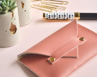 Business card case etsy business card holder business card case faux leather gifts for women stocking colourmoves Gallery