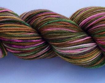 Dusty Rusty Rose - hand dyed yarn 3.5 oz 380 yds