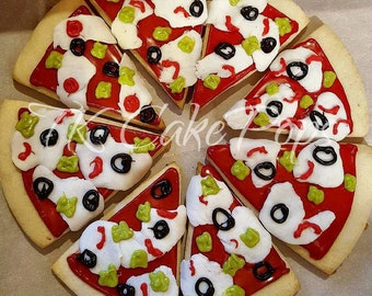 Pizza Shaped Sugar Cookies