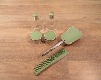 Reduced price....Art Deco vanity set- 10 piece set in great vintage condition, beautiful