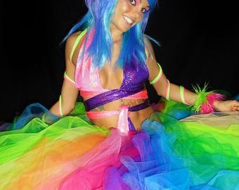 Rainbow Wedding Tutu