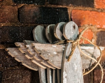 Angel Christmas Tree Topper- Christmas Decoration Angel Tree Topper made from reclaimed wood