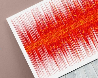Hit Me With Your Best Shot Sound Wave Art Inspired By Pat Benatar - 24x8 Inch Canvas, Poster or Digital Image - Free P&P