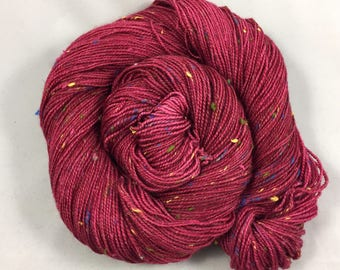 hand dyed sock yarn, Donegal Sock GHOST, superwash merino wool and NEP, fingering weight yarn