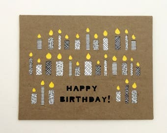 30th Birthday Card 30th Birthday For Her Birthday Card For Boyfriend 30th Birthday For Him Birthday Cards recycled paper Birthday Candles