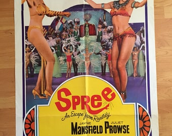 "Vintage 1967 Jayne Mansfield ""Spree"" Movie Poster"
