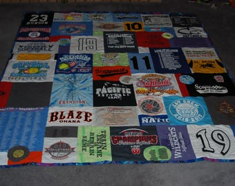 T-Shirt Quilt from your shirts! Custom Collage T-Shirt Quilt