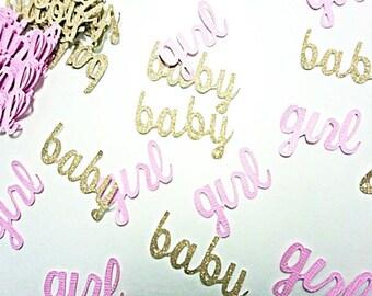 Baby girl confetti.   Baby shower confetti.   Girl baby shower decorations.   Pink and gold baby shower.  Its a girl confetti. Gender reveal