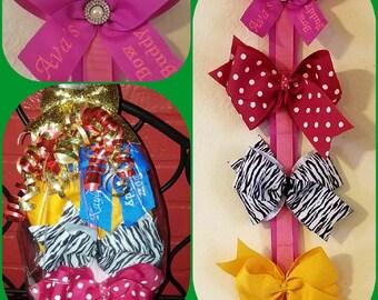 Bow Holder Gift Set Personalized Bow Buddy Bow Holder Hanger