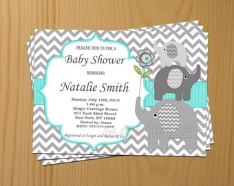 Boy baby shower invitation boy elephant baby shower baby shower invitation elephant baby shower invitation boy baby shower invitation invites 01 filmwisefo