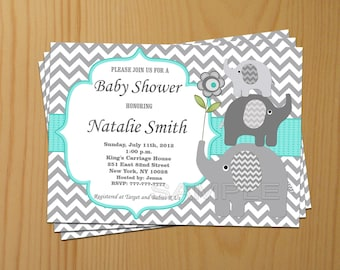 Boy baby shower invitation boy elephant baby shower baby shower invitation elephant baby shower invitation boy baby shower invitation invites 01 filmwisefo Gallery