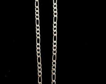 """22"""" Figaro Stainless Steel Chain With Lobster Claw 14.8 Grams"""