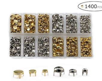 Nailhead Studs for Clothing DIY Bedazzler Metal Studs. 1400+ Pieces