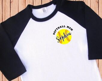 Softball Mom Shirt. Softball Mom Jersey [Softball Birthday Shirt. Softball Dad Shirt. Softball Mom T Shirt. Softball Mom Tee] (2050)