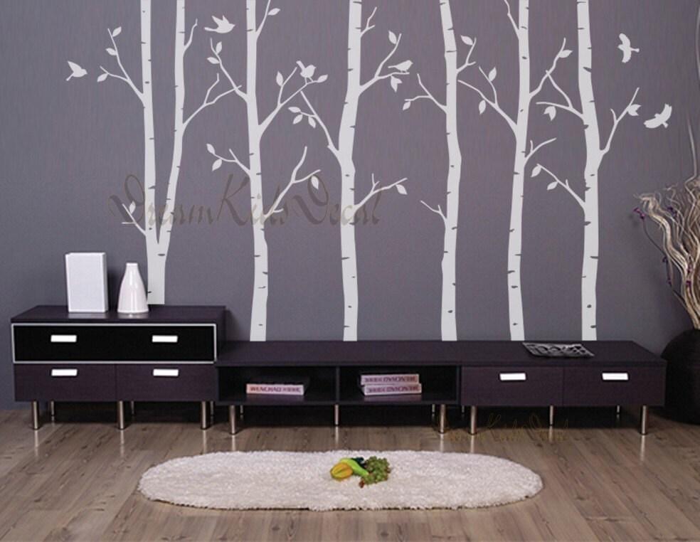 Birke b ume natur wandtattoo vinyl wand aufkleber - Wandtattoo natur ...