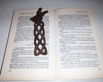 "Bookmark old lace pattern ""Rabbit"""