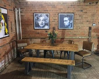 The Holborn Live Edge Reclaimed Dining Table