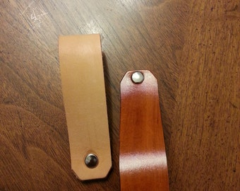 Leather Drawer, Cabinet pulls, leather drawer pull
