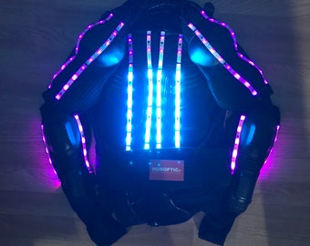 LED Jacket Customization Hoodie Led Clothing Props Light Up Robot Costume Stilt Dancer for Gigs DJ Rave Glow Party Cosplay LED Wear
