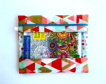 Geo Triangle - Planner Pouch - Rebecca Portfolio - Erin Condren, Plum, Limelife, Emily Ley, InkWell, Happy Planners