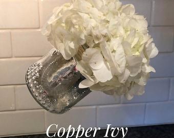 Retro Silver Mercury Glass Vase With Hanging Option