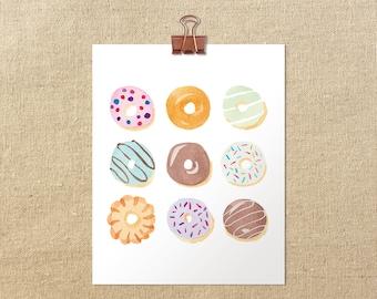 "Donut-a-Day Giclée Art Print | 5x7"" or 8x10"""