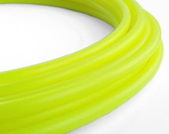 Skinny UV Yellow 5/8 Polypro Hula Hoop// Customizable//Super Light Weight//Trick Hoop//Dance Hoop