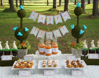 INSTANT DOWNLOAD - Hop To It - EASTER Party Printables Package