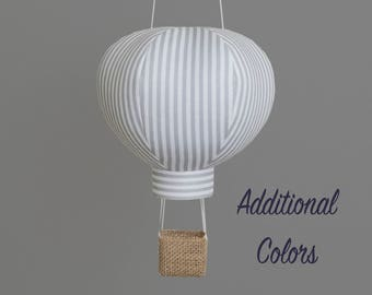 Hot Air Balloon Nursery Decoration in Dress Stripe - Boy or Girl Baby  Shower Decor,