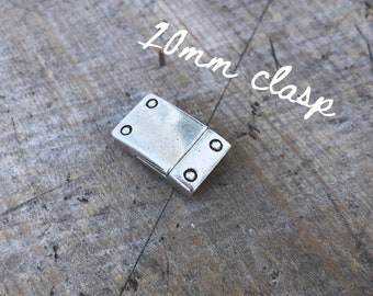 10mm Antique Silver Magnetic Clasp - DIY Jewelry