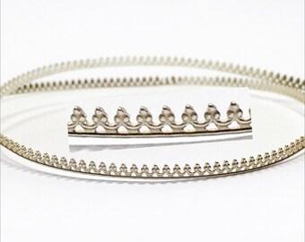 12 Inch (30.5cm) x2.5mm Width Sterling Silver 935 Strip Gallery Decorative Ribbon, Pattern wire (C000205)