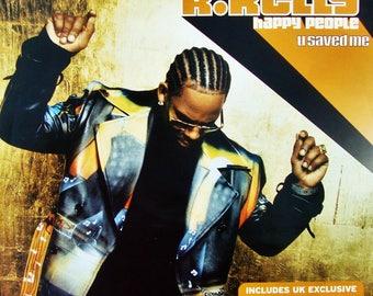 "R KELLY  ""Happy People"" & ""U Saved Me"" Singles Remixed @ Chicago Chocolate Factory 12"" Vinyl FREE Ship Dance Soul R and B Hip Hop Rap Gospel"