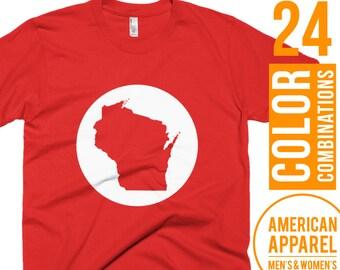 Wisconsin Shirt Wisconsin Mens Shirt Wisconsin Womens Shirt Wisconsin Top Wisconsin Short Sleeve Shirt Wisconsin Gift